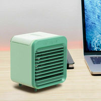 Stand USB Rechargeable Mini Air Cooler Humidifier Fans Portable Air Conditioners