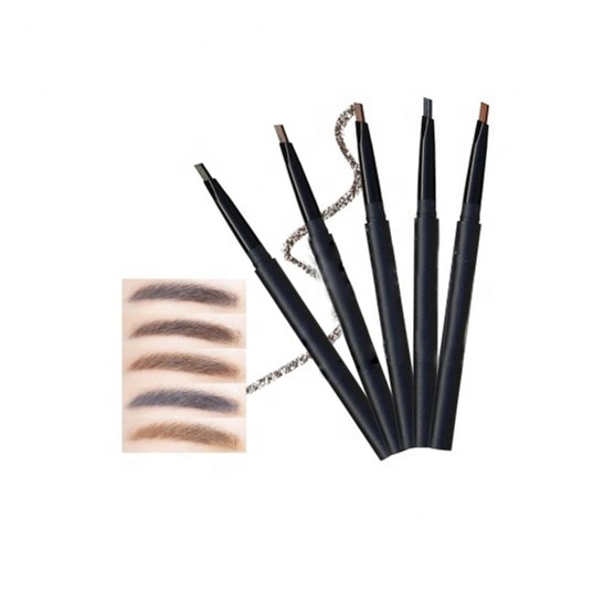OEM Natural Eyebrow Pencils Waterproof Long Lasting 6 Color eyebrow pencil with brush