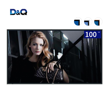 100'' android 9.0 television 4K led smart tv tempered glass 100 inch tv