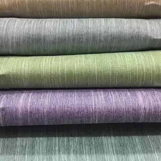 Algodón, como mucho stock de línea de tela cortina paneles fabricante