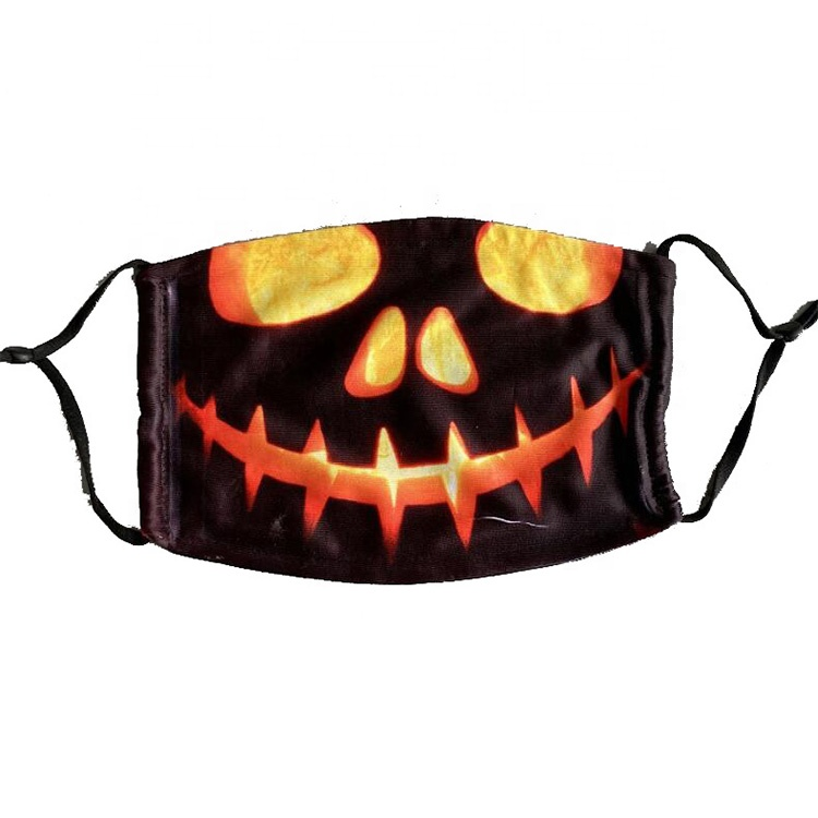 Wholesale <strong>halloween</strong> reusable washable printed face <strong>mask</strong> <strong>custom</strong> design fashion face party <strong>masks</strong>
