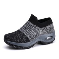 Womens Walking Shoes Sock Sneakers Mesh Slip On Sneakers Shoes Comfortable Lady Fashion Platform Loafers