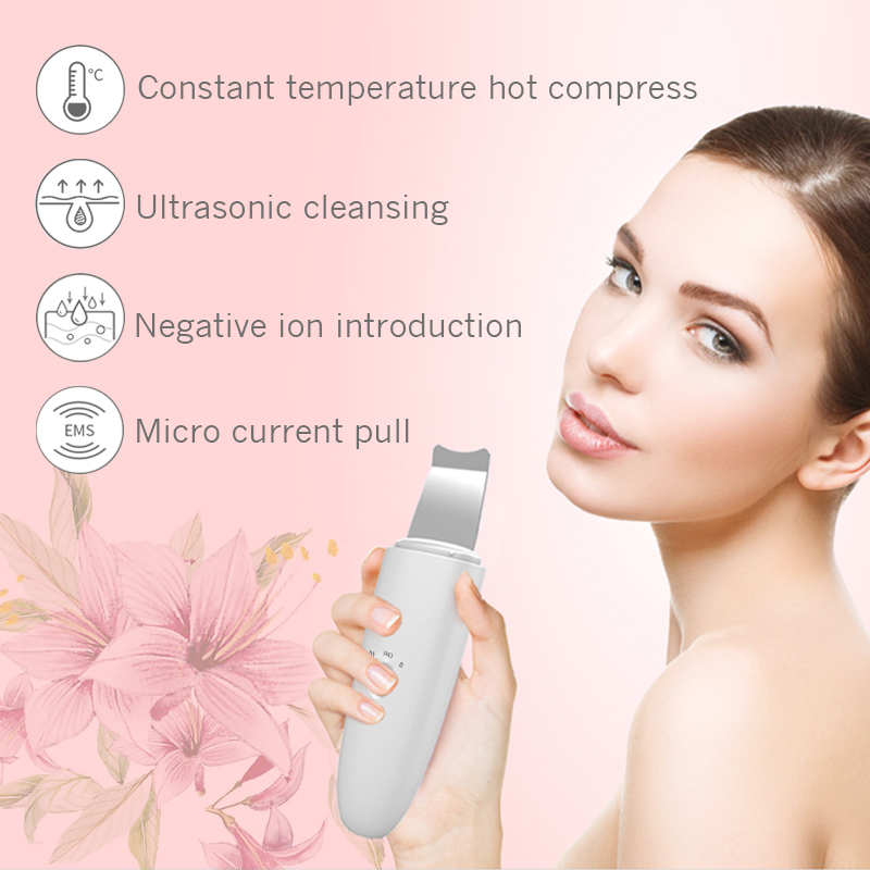 NEW 2020 Ultrasonic Deep Face Cleaning Machine Skin Scrubber Remove Dirt Blackhead Reduce Wrinkles and spots Facial Whitening