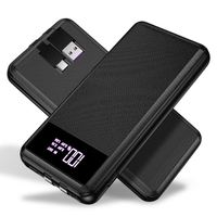 USAMS Mini Power Bank 10000mAh for emnt zmnt iPhone LED Display Powerbank External Battery Powerbank Fast charging