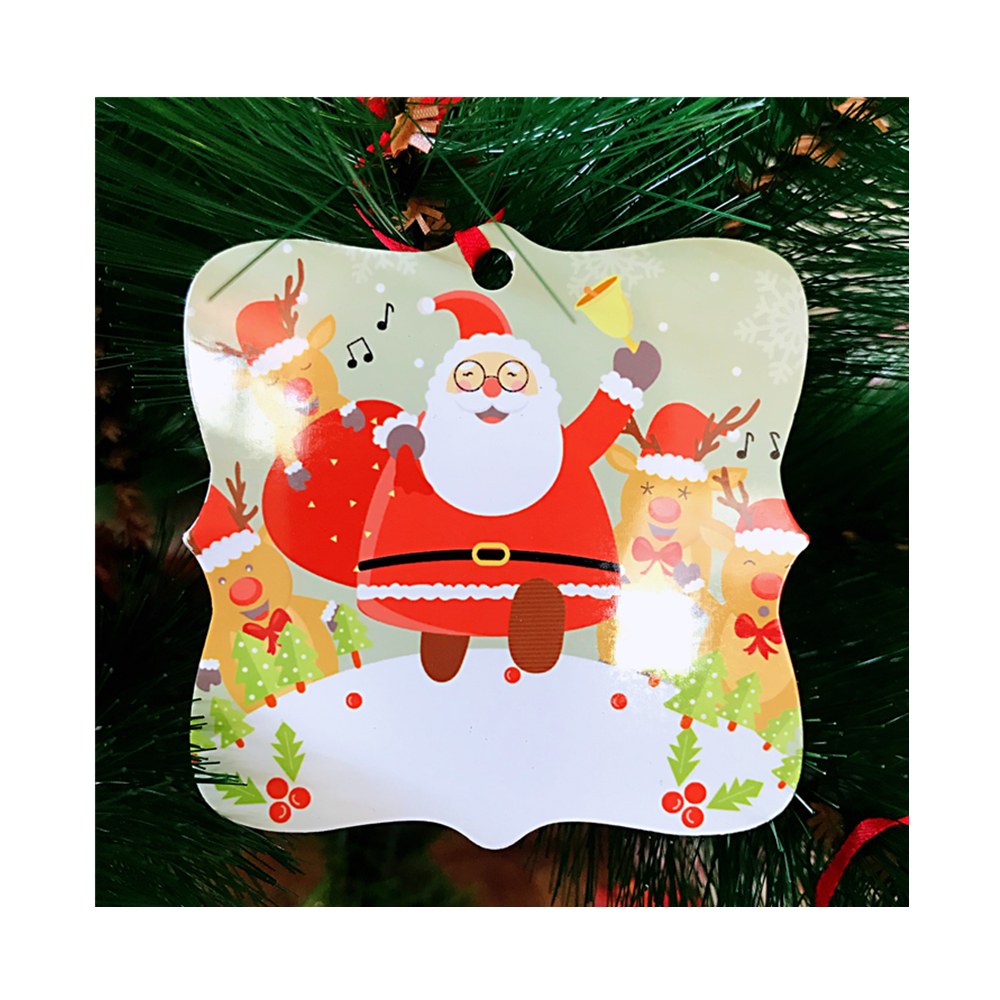 Customized Christmas Metal Ornaments Prague Personalized Metal Photo Blanks <strong>Aluminum</strong> for Sublimation Printing