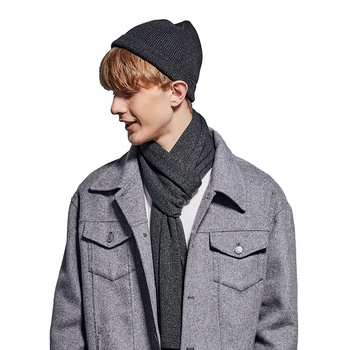 2019 winter new design scarf and hat set for men