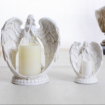 Mescente wholesale home wedding custom angel tea light decorative gift candle holders