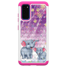 Anti Choque Animal Bonito Colorido Glitter Diamante TPU PC Dupla Camada Caixa <span class=keywords><strong>Do</strong></span> Telefone Para Samsung Galaxy S11e para <span class=keywords><strong>Alcatel</strong></span> Tetra