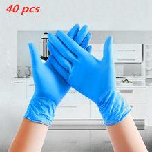 100 штук упак. одноразовые нитриловые перчатки водонепроницаемые перчатки для экзамена Ambidextrous домашние перчатки ffp3 guantes nitrilo латекс(Китай)