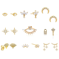2020 delicate eye gold hook jewelry minimalist huggie hoop women earrings sets