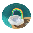 Baby Ring Kids Baby Rainbow Thicken Safety Swimming Pool Ring With Seat