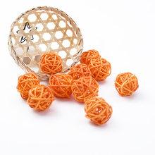 10 шт., искусственный соломенный свадебный декоративный цветок, венок для дома, Рождественское украшение, ротанговый шар, сделай сам, занавес...(Китай)