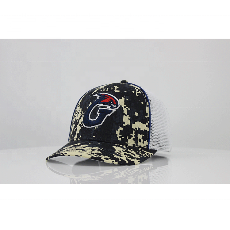 Wholesale Custom Logo Military Style Baseball Cap,Mesh Back Breathable Camo Custom Trucker Cap And Hat