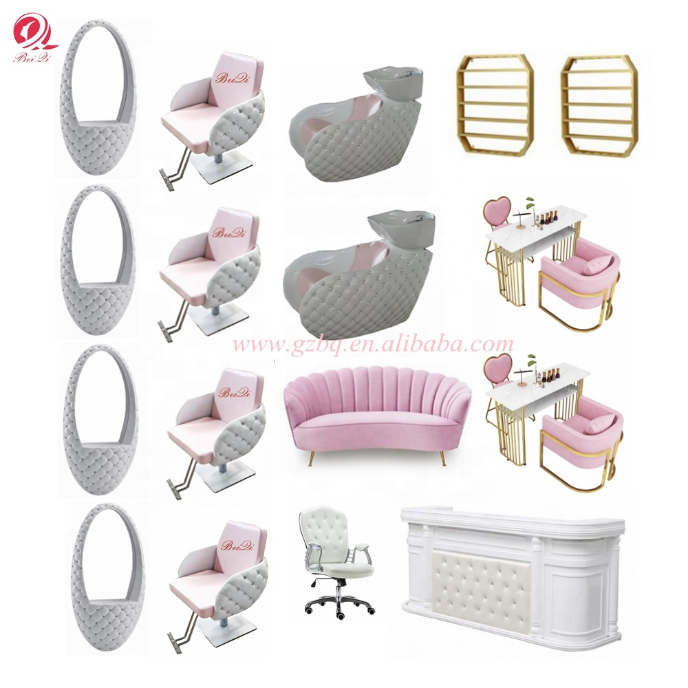 Beiqi beauty salon hairdressing furniture include salon barber chair mirror station pedicure spa chair