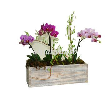 Wood Bo Rectangular Weddings Flowers