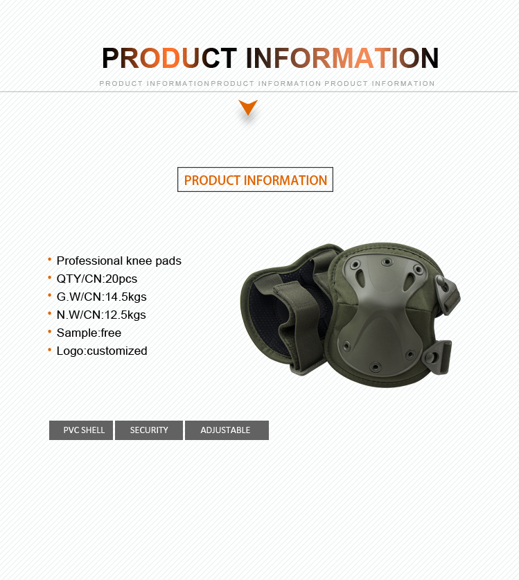 VUINO hot sale military tactical kneepad