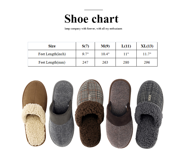 Customized Fuzzy Design 40D Memory Foam Of Mens Leather Slippers