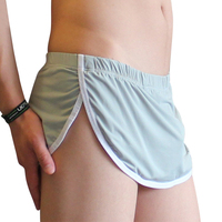 New style short shorts for man hot sale seamless design silky material comfortable home shorts