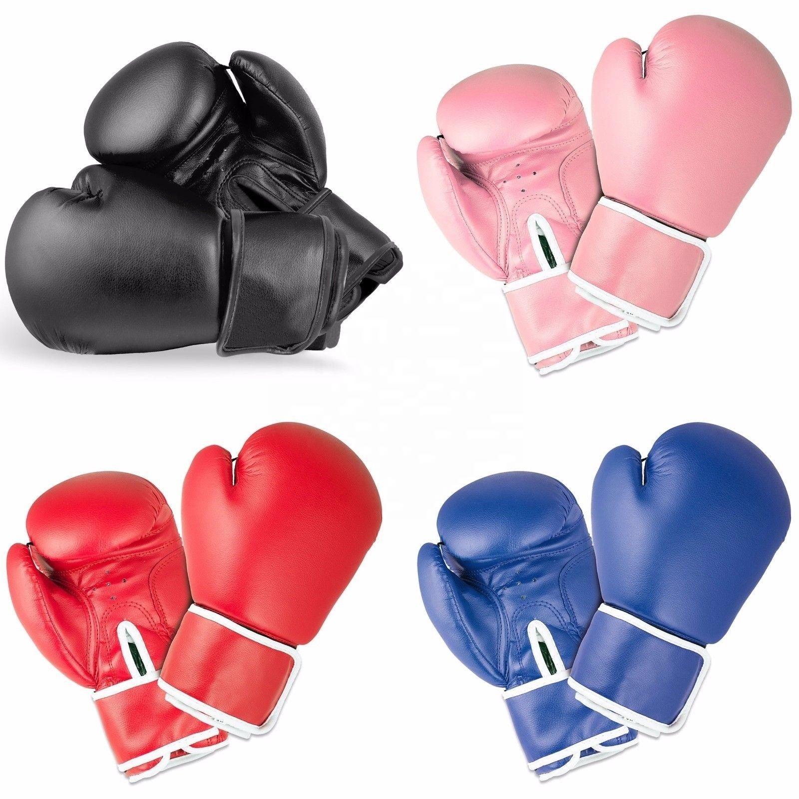 カスタムロゴレザー PU スパーリング格闘技ボクシング手袋男性の女性の子供