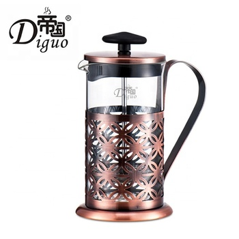 Diguo 600ml 20Oz Hot Selling Heat Resistant Glass French Press Coffee Tea Maker With Double Layer Stainless Steel Filter