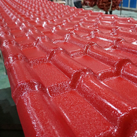 Hot selling Building Materials New Technology Construction ASA Rubber Plastic PVC Synthetic Resin Fireproof color Roof Tile