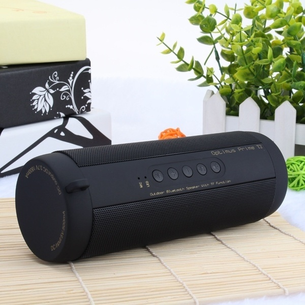 Amazon New Bass T2 Portable Wireless Subwoofer Waterproof Bluetooth Speaker with FM Radio TF Mic Aux USB flashlight
