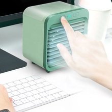 MINI AIR Cooler Fan Air USB ชาร์จน้ำ Mist Humidifier พัดลม