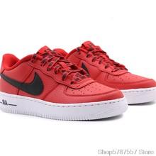 Nike Air Force 1 оригинальные мужские кроссовки для скейтбординга, легкие и удобные кроссовки # AA0287-002()