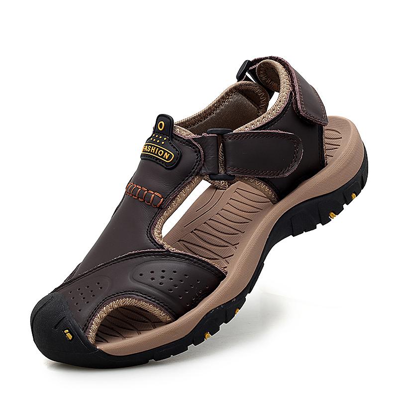 Venta al por mayor sandalia hombre cuero Compre online los