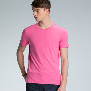 Bulk plain pink red t shirts men solid color custom printing t shirts summer wear street t shirts wholesale