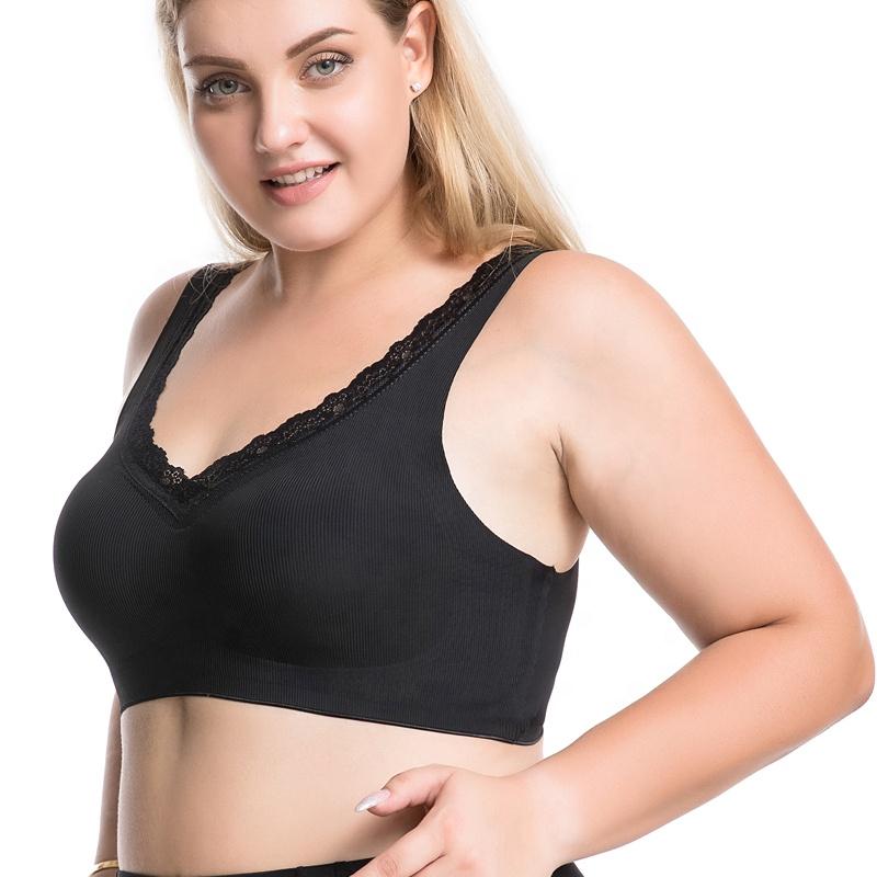 oem custom High Quality Ice Silk Mature Lady Big Boob Tube Top plus size wrapped chest bra