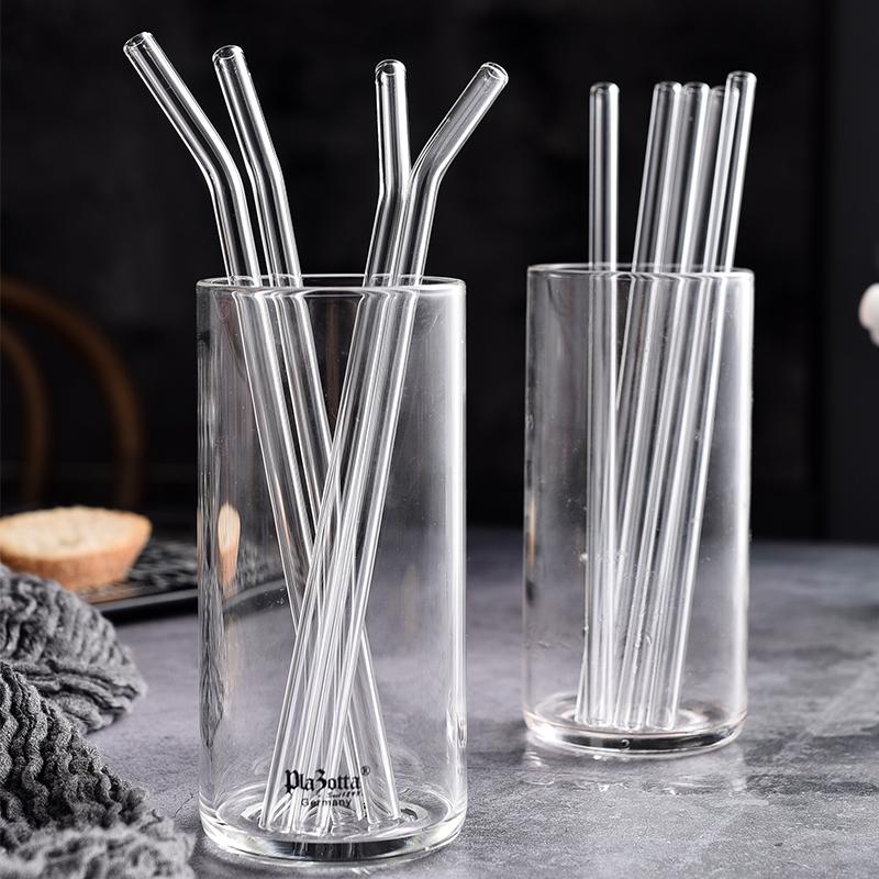 Eco friendly pyrex reusable drinking High Borosilicate glass straws in stock