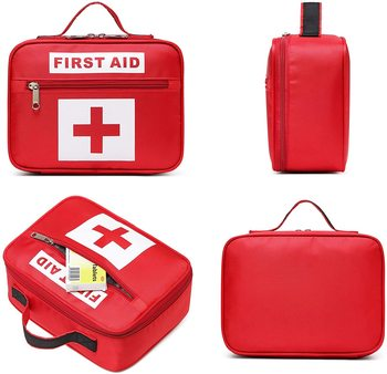 First Aid Kit Supplies Medical Supplies Outdoor Travel Emergency Kit Red Portable Handle Set