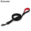 High Reflective Pet Dog Lead 3.5mm Thickness Nylon Webbing Pet Leash With Extra Metal D-RING