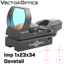 Vector Optics IMP 1x23x34 Multi 4 Reticle Reflex Red Dot Scope Weapon Gun Sight with 11mm Dovetail Mount Base