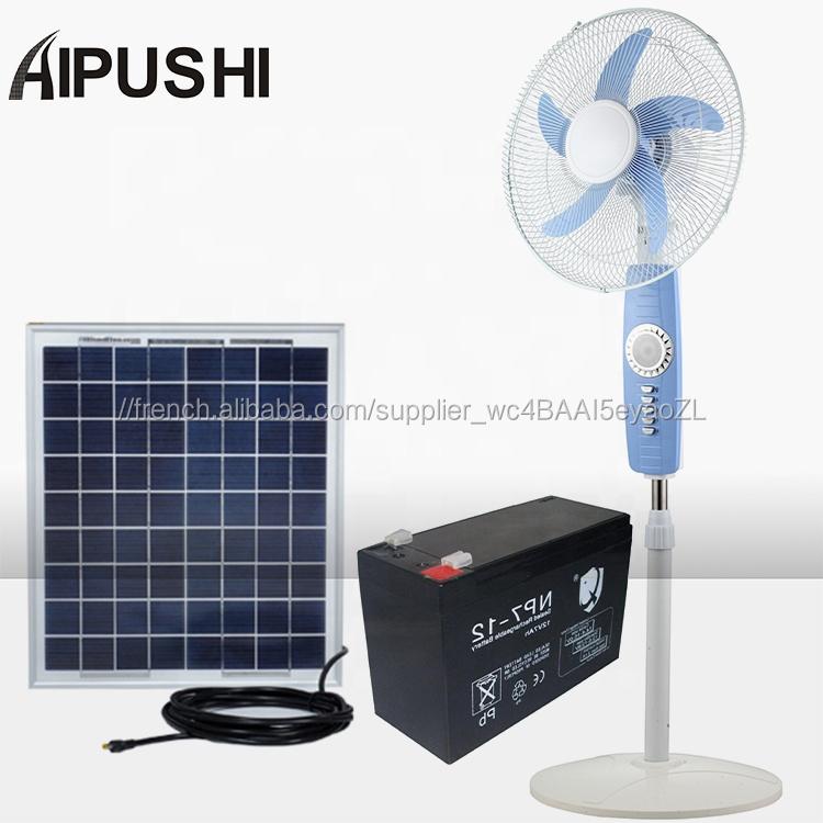 Dernier Style Haute Qualité Élégant Ventilateur Électrique 12v Solaire Puissant Grand Ventilateur Rechargeable Pour Une Utilisation En