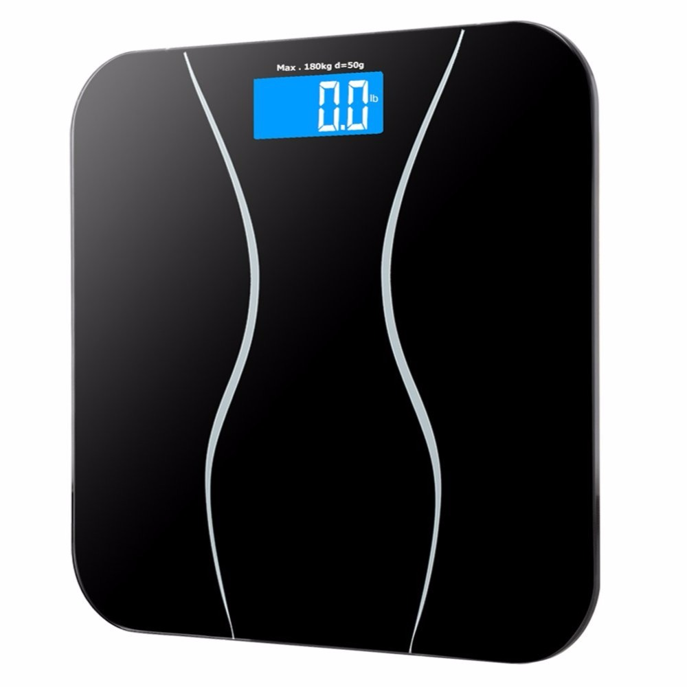 Electronic LCD Display Weights Bathroom Weighing Machine Personal Body Scales 180kg Smart Balance