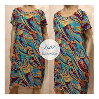 Italy Autumn New Style Women's Art Printed Loose Large Cotton Long Dresses
