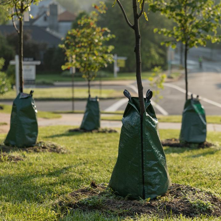 Heavy duty encerado do pvc saco de rega árvore de liberação lenta