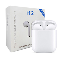 2020 Asli I12 Tws Bluetooth Earphone Touch Kunci Nirkabel <span class=keywords><strong>Kebisingan</strong></span> <span class=keywords><strong>Membatalkan</strong></span> <span class=keywords><strong>Earbud</strong></span> V5.0 Earpods 12 Headset Olahraga Headphone
