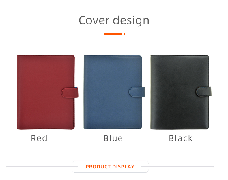 custom leather notebook cover A5 binder for disc bound planner and notebooks leather embossed journal