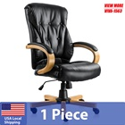 Luxury Comfortable High Back Wooden Executive Chair Office Chair Home Office