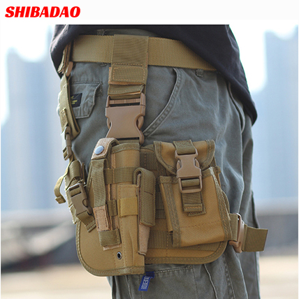 Adjustable Tactical Army Equipment <strong>Gun</strong> Bag Drop Leg <strong>Holster</strong> for Left Drop Leg