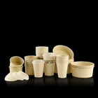 Single Wall Paper Cup Bowl Biodegradable Bamboo Kraft Paper Soup Ice Cream Cup Salad Bowl Coffee Cup