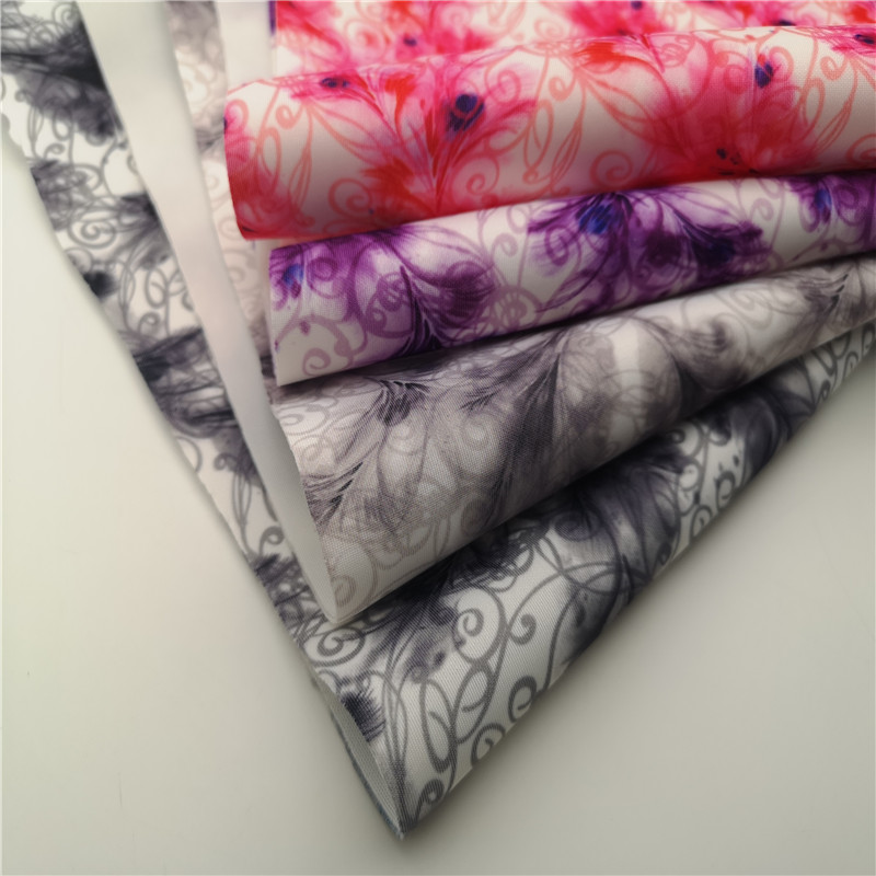 New Arrival 94% Polyester 6% Spandex Floral Print Knitted Lamination Fabrics