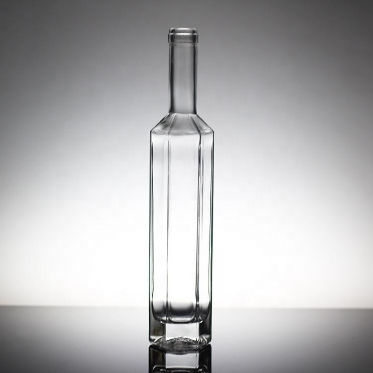Super flint 12OZ 16OZ botella de vino mejor precio limpio Vodka de botella de vidrio