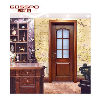 Solid Wood Glass Interior Door Design Indian House Main Gate Glass Kitchen  Door Design - Buy Glass Kitchen Door Design,Interior Glass Doors,Wood Glass  ...