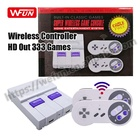 Hot Deal [ Video Game Games Consoles ] Factory Mini HD TV Video Classic Edition 8 Bit Game Retro 333 Games Consoles For SNES Nintendo With Wireless Controllers