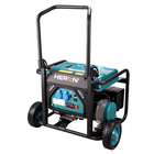 8896140 HERON CE Approved 7.4HP/3.5KW 1 ph Portable Electrical Gasoline Generator with foldable handle and fixed rubber wheels