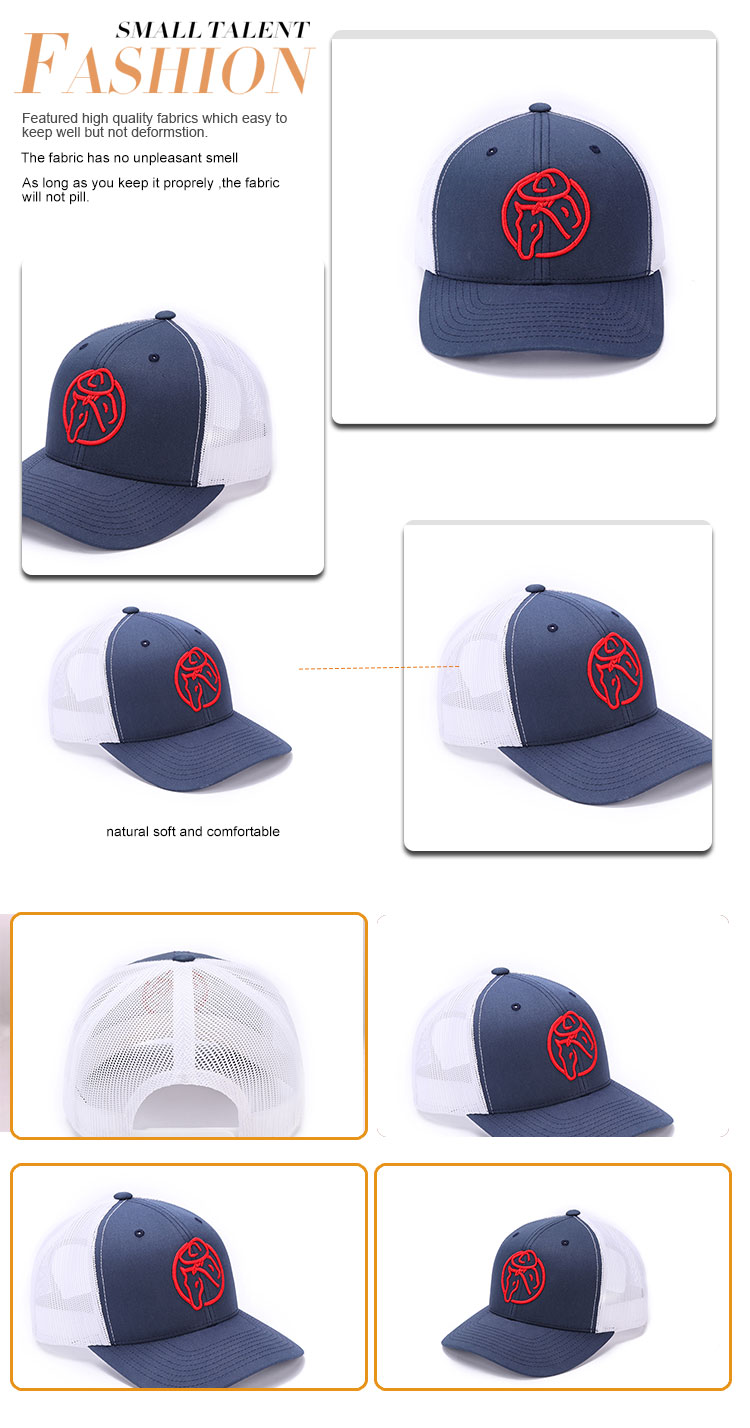 New Released  100% Cotton embroidery snapback  trucker cap